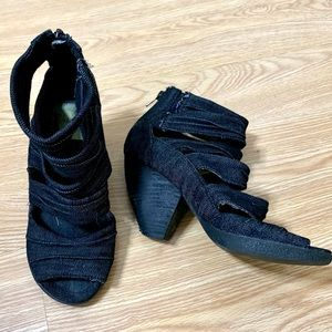 Blowfish Denim Strappy Sandals